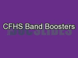 CFHS Band Boosters