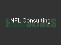 NFL Consulting