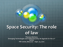 Space Security: The role of law
