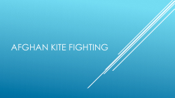 Afghan kite fighting