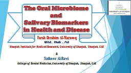 The Oral Microbiome