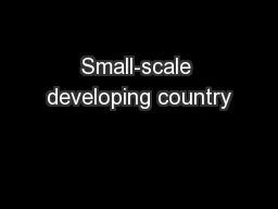 Small-scale developing country
