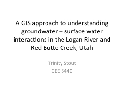 A GIS approach to understanding groundwater – surface wat