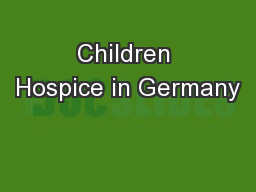 Children Hospice in Germany