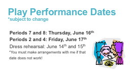 Play Performance Dates PowerPoint PPT Presentation
