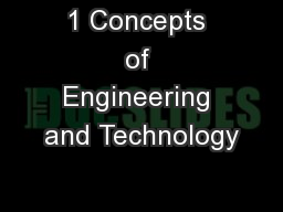 1 Concepts of Engineering and Technology