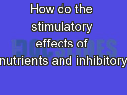 How do the stimulatory effects of nutrients and inhibitory