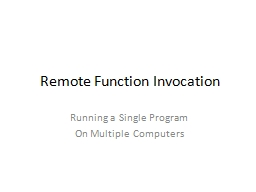 Remote Function Invocation