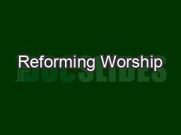 Reforming Worship