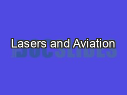 Lasers and Aviation