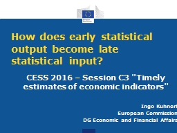 How does early statistical output become late statistical i PowerPoint PPT Presentation
