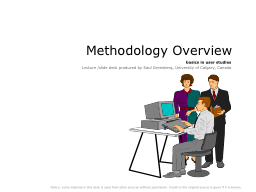 Methodology Overview PowerPoint PPT Presentation