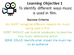 Learning Objective 1 PowerPoint PPT Presentation