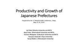 Productivity and Growth of Japanese