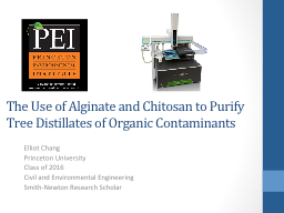 The Use of Alginate and Chitosan to Purify Tree Distillates