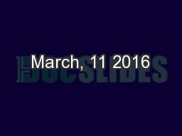March, 11 2016