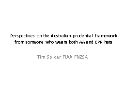Perspectives on the Australian prudential framework PowerPoint PPT Presentation