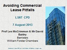 Avoiding Commercial Lease Pitfalls