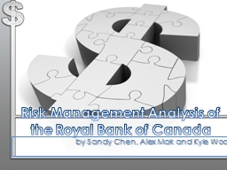 Risk Management Analysis of the Royal Bank of Canada PowerPoint PPT Presentation
