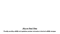 Mason Feed Store