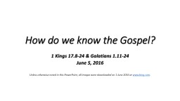 How do we know the Gospel? PowerPoint Presentation, PPT - DocSlides