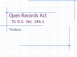 Open Records Act PowerPoint PPT Presentation