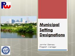 Municipal Setting Designations