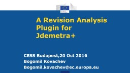 A Revision Analysis Plugin for