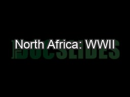 North Africa: WWII