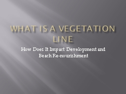What is a Vegetation Line PowerPoint PPT Presentation