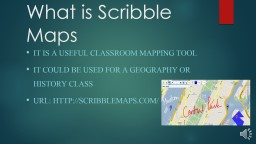 What is Scribble Maps PowerPoint PPT Presentation
