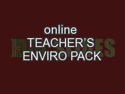 online TEACHER'S ENVIRO PACK