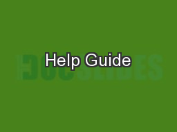 Help Guide
