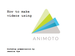 How to make videos using