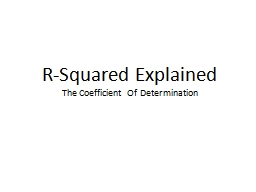 R-Squared Explained