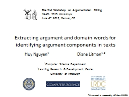 Extracting argument and domain words for identifying