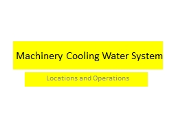 Machinery Cooling Water System PowerPoint PPT Presentation
