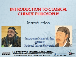 INTRODUCTION TO CLASSICAL