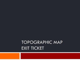 topographic Map PowerPoint PPT Presentation