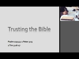 Trusting the Bible PowerPoint PPT Presentation