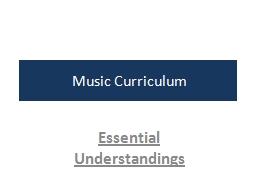 Music Curriculum