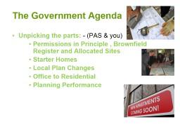 The Government Agenda
