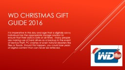 WD Christmas gift guide 2016