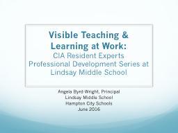 Visible Teaching &