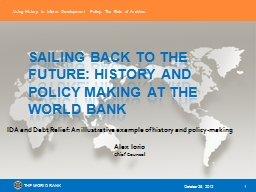 Sailing back to the future: history and policy making at th