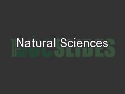 Natural Sciences