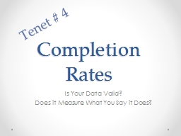 Completion Rates PowerPoint PPT Presentation