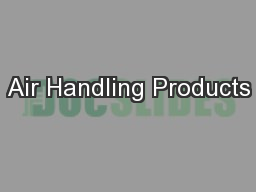 Air Handling Products