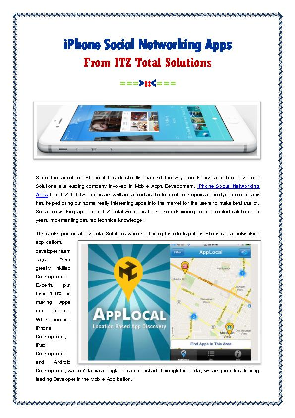 iPhone Social Networking Apps