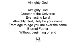 Almighty God PowerPoint PPT Presentation